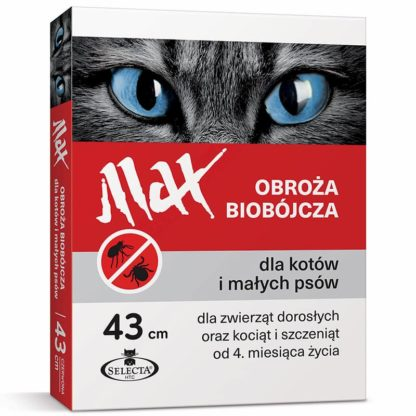 MAX Obroża Biobójcza dla Kotów i Małych Psów