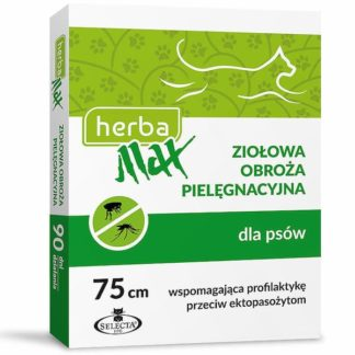 Herba Max Ziołowa Obroża Pielęgnacyjna dla Psów, Wspomagajaca Profilaktykę Przeciw Ektopasożytom